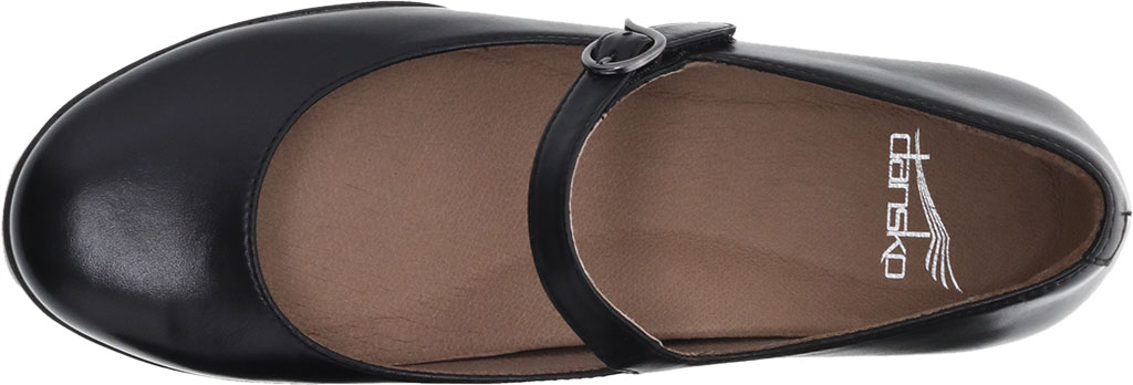 Women's Dansko Kaelyn Mary Jane, Black Aniline Calf Leather, large, image 3