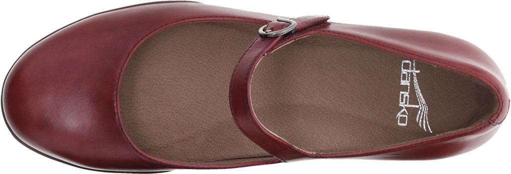 Women's Dansko Kaelyn Mary Jane, Cabernet Aniline Calf Leather, large, image 3