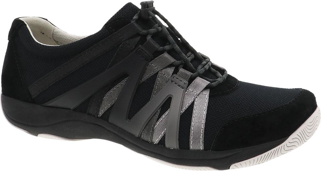 Women's Dansko Henriette Sneaker, Black Suede, large, image 1