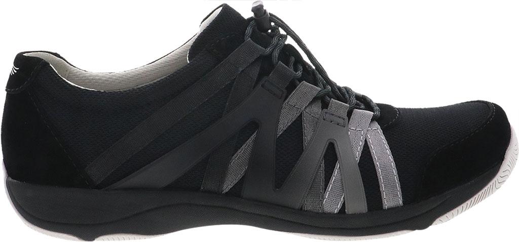 Women's Dansko Henriette Sneaker, Black Suede, large, image 2