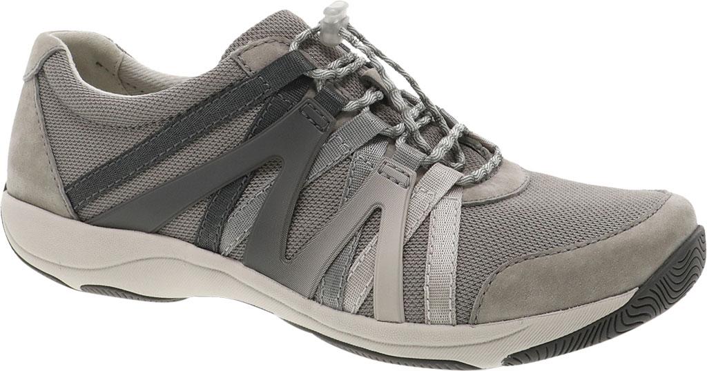 Women's Dansko Henriette Sneaker, Grey Suede, large, image 1