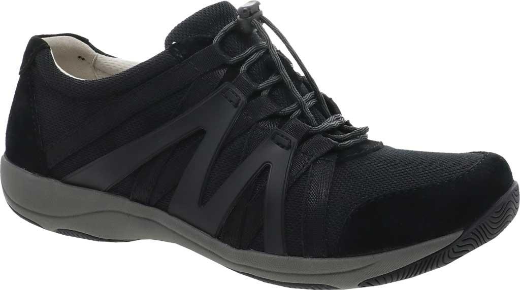 Women's Dansko Henriette Sneaker, Black/Black Suede, large, image 1