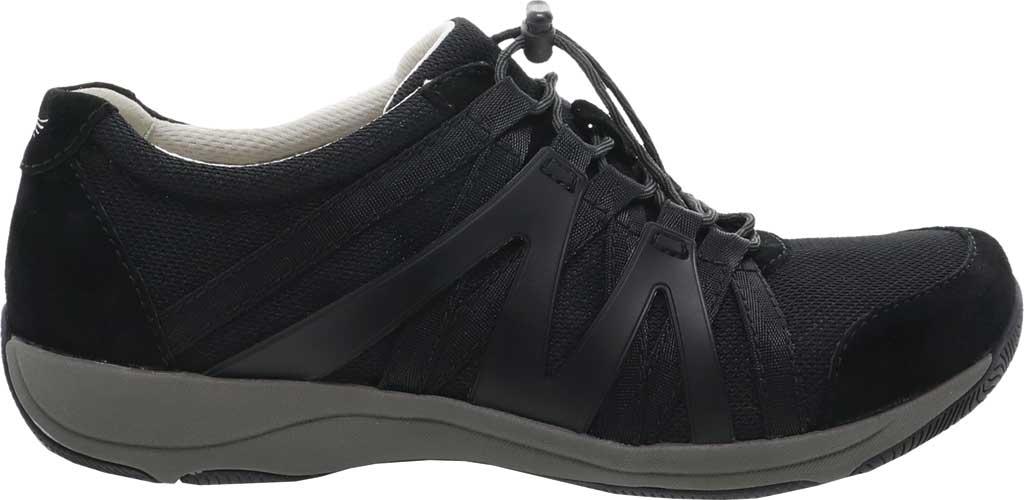 Women's Dansko Henriette Sneaker, Black/Black Suede, large, image 2