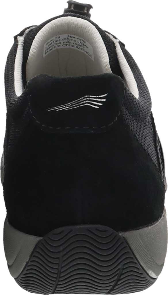Women's Dansko Henriette Sneaker, Black/Black Suede, large, image 3