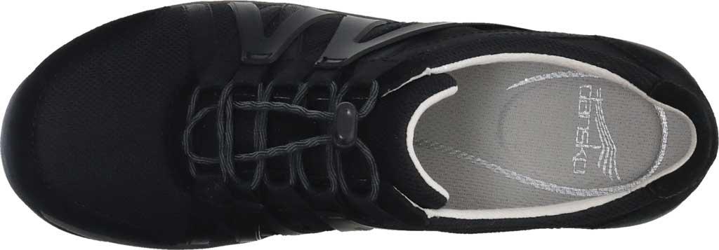 Women's Dansko Henriette Sneaker, Black/Black Suede, large, image 4