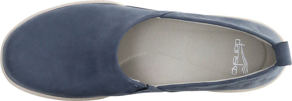 Women's Dansko Reba Closed Back Clog, Denim Vintage Nappa Leather, large, image 3