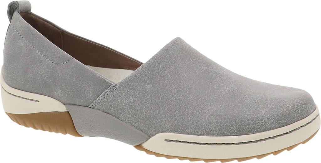Women's Dansko Reba Closed Back Clog, Grey Vintage Nappa Leather, large, image 1