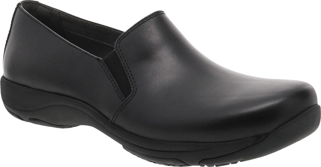 Women's Dansko Nora Slip On, Black/Black Leather, large, image 1