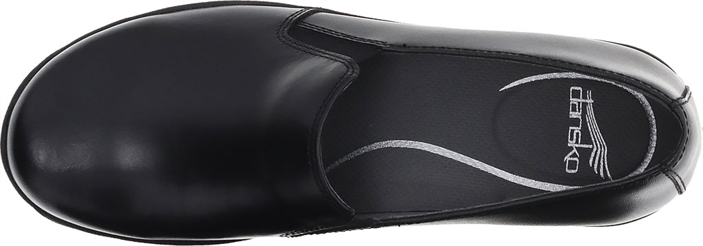 Women's Dansko Nora Slip On, Black/Black Leather, large, image 3