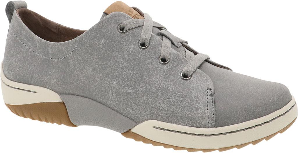 Women's Dansko Renae Sneaker, Grey Vintage Nappa Leather, large, image 1