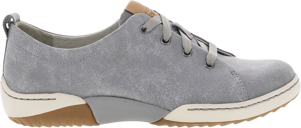 Women's Dansko Renae Sneaker, Grey Vintage Nappa Leather, large, image 2