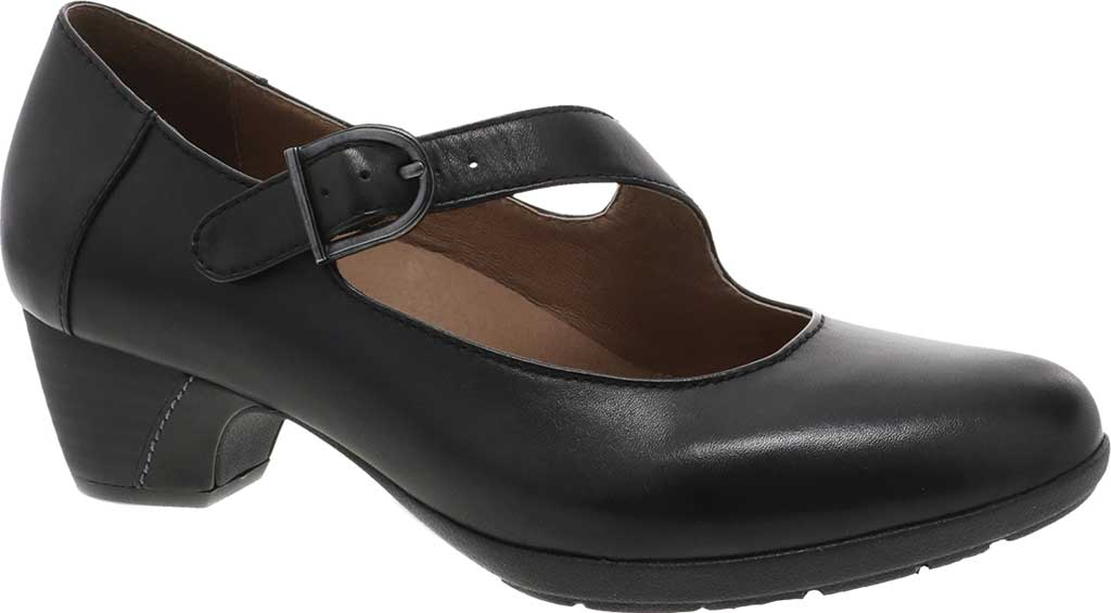 Women's Dansko Dianne Mary Jane, Black Aniline Calf Leather, large, image 1