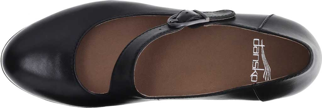 Women's Dansko Dianne Mary Jane, Black Aniline Calf Leather, large, image 3