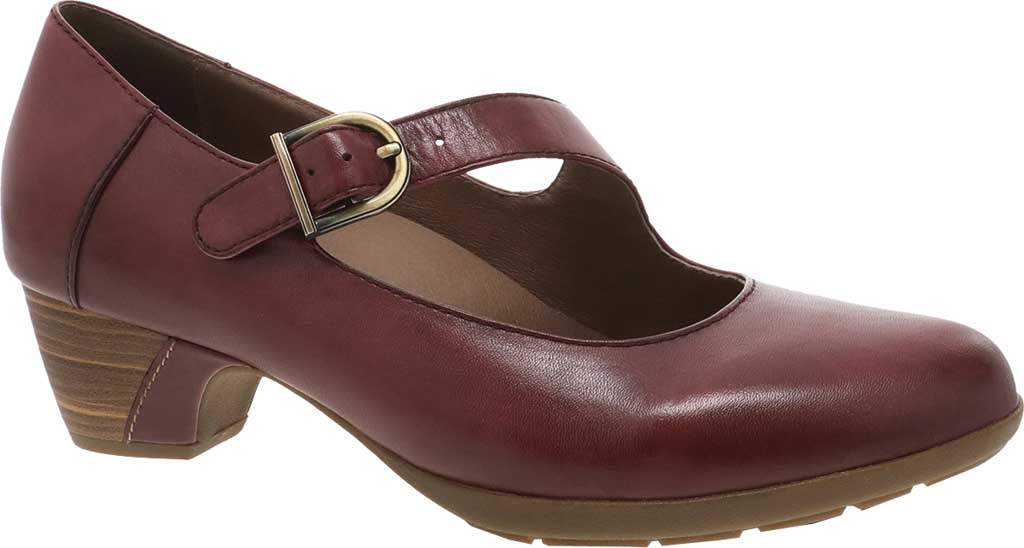 Women's Dansko Dianne Mary Jane, Cabernet Aniline Calf Leather, large, image 1