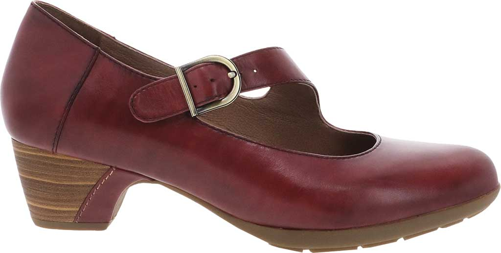 Women's Dansko Dianne Mary Jane, Cabernet Aniline Calf Leather, large, image 2
