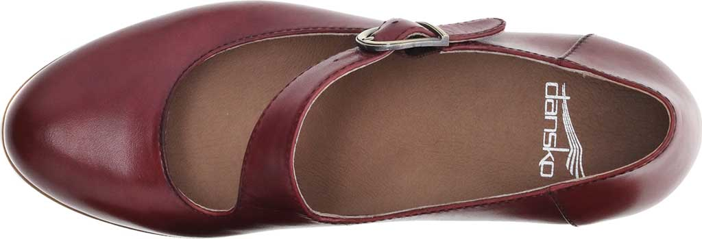 Women's Dansko Dianne Mary Jane, Cabernet Aniline Calf Leather, large, image 3