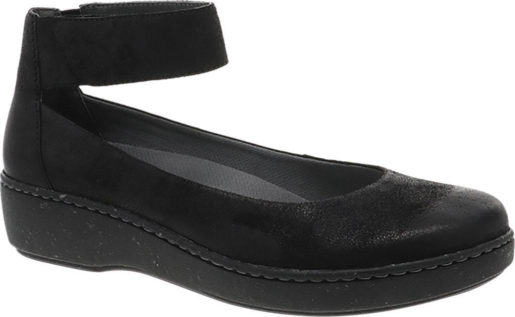 Women's Dansko Emmie Ankle Strap, Black Burnished Suede, large, image 1