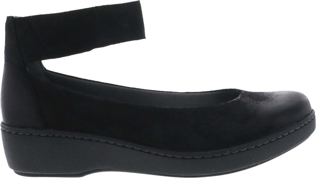 Women's Dansko Emmie Ankle Strap, Black Burnished Suede, large, image 2