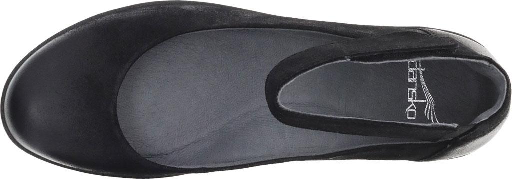 Women's Dansko Emmie Ankle Strap, Black Burnished Suede, large, image 3