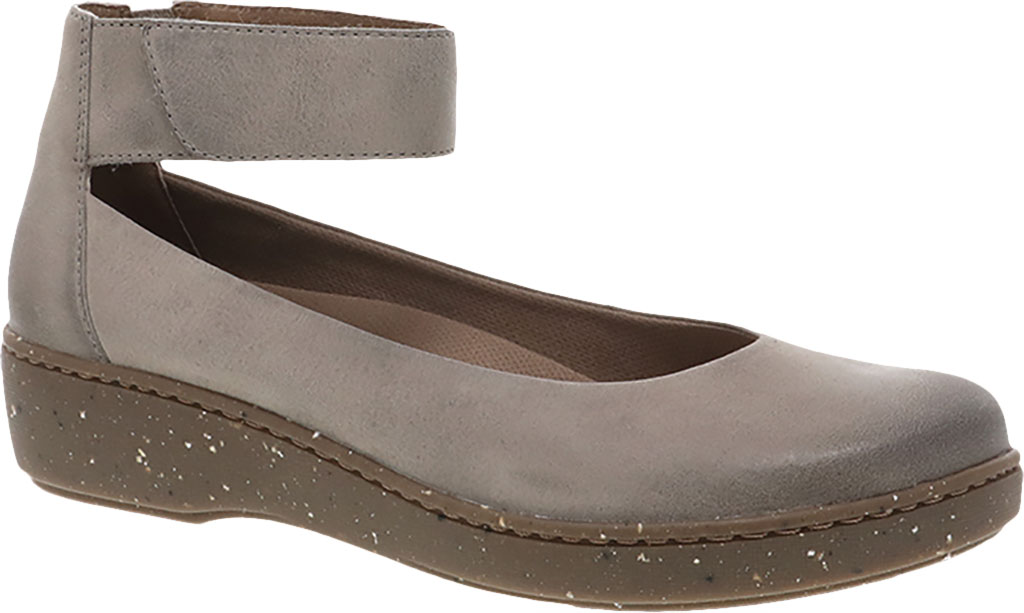Women's Dansko Emmie Ankle Strap, Taupe Burnished Suede, large, image 1