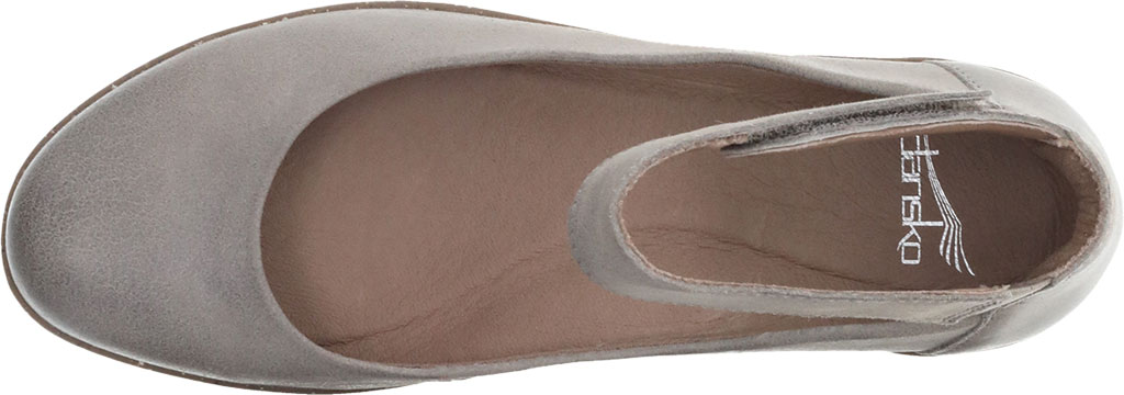 Women's Dansko Emmie Ankle Strap, Taupe Burnished Suede, large, image 3