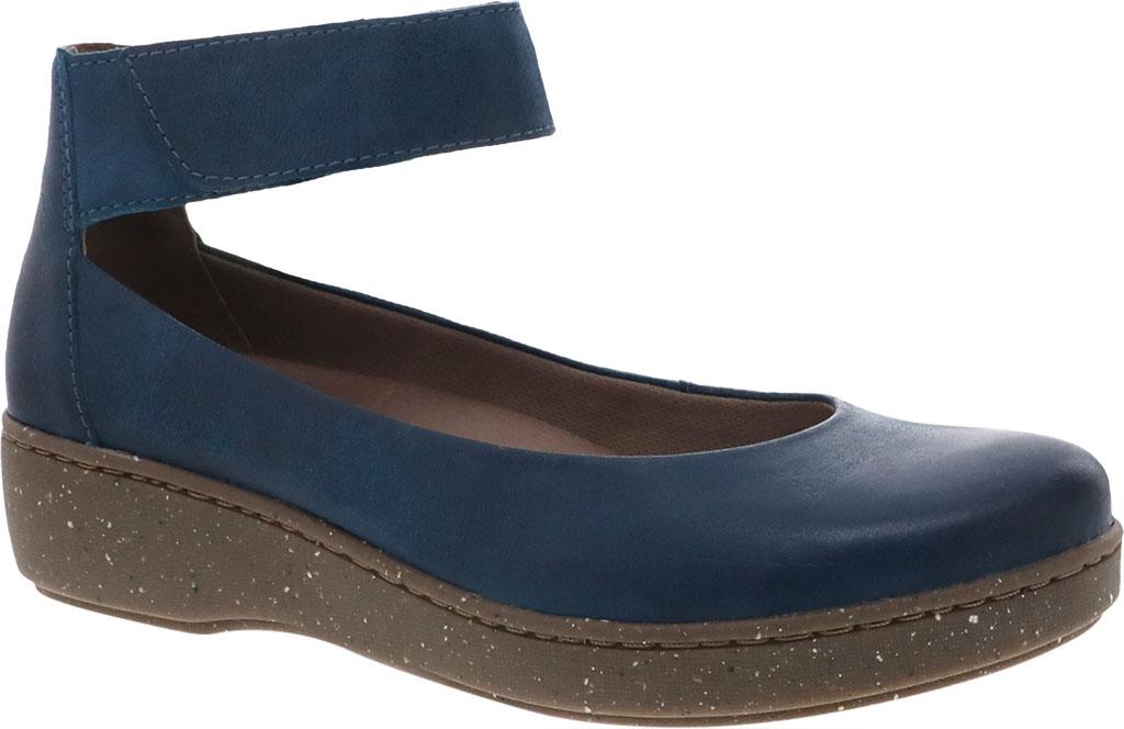 Women's Dansko Emmie Ankle Strap, Teal Burnished Suede, large, image 1