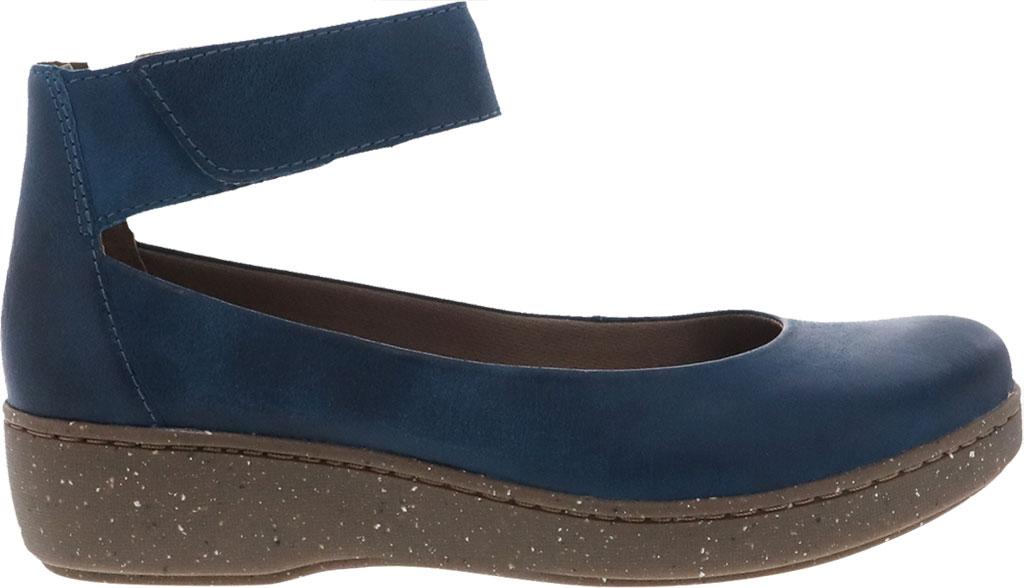 Women's Dansko Emmie Ankle Strap, Teal Burnished Suede, large, image 2
