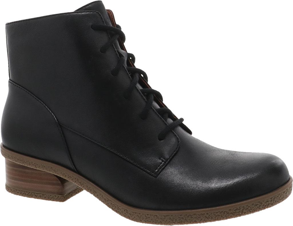 Women's Dansko BeBe Ankle Bootie, Black Tumbled Leather, large, image 1