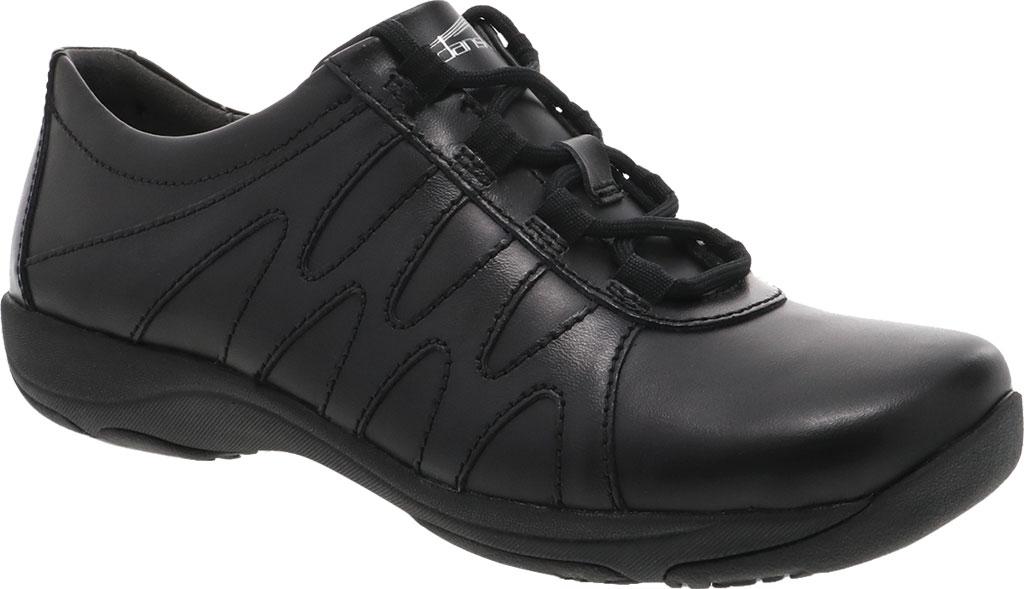 Women's Dansko Neena Work Shoe, Black/Black Leather, large, image 1