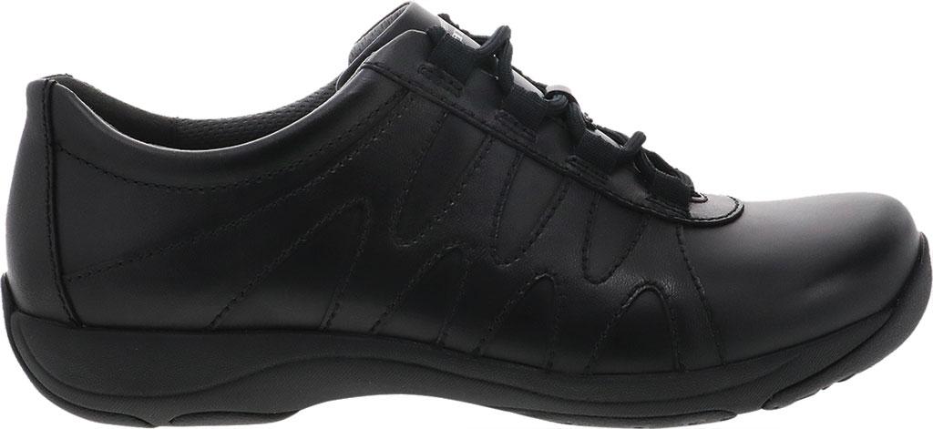 Women's Dansko Neena Work Shoe, Black/Black Leather, large, image 2