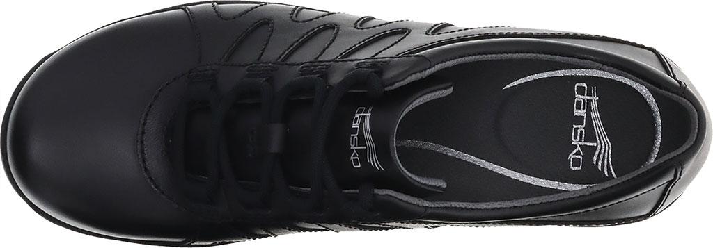 Women's Dansko Neena Work Shoe, Black/Black Leather, large, image 3