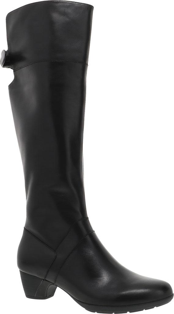 Women's Dansko Dori Knee High Boot, Black Aniline Calf Leather, large, image 1