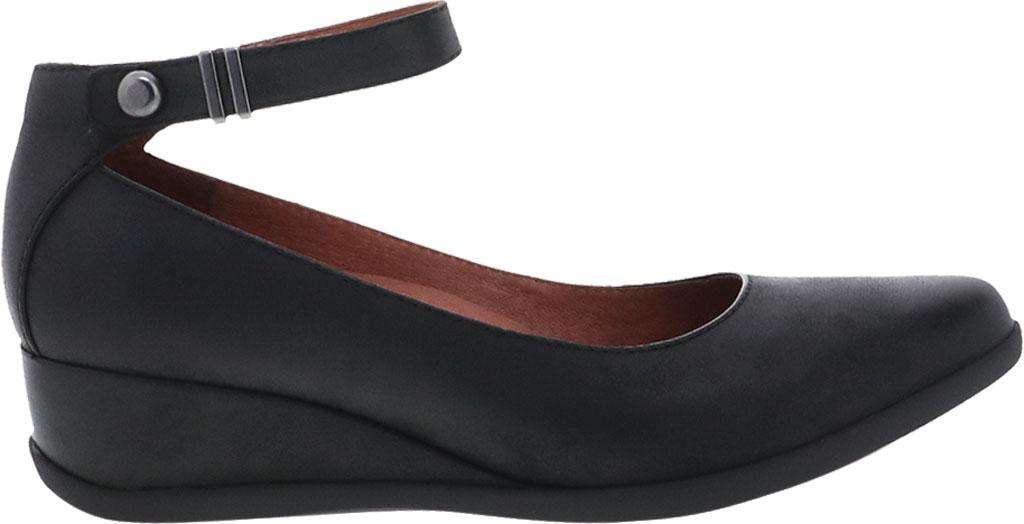 Women's Dansko Shaylee Ankle Strap Wedge, Black Leather, large, image 2