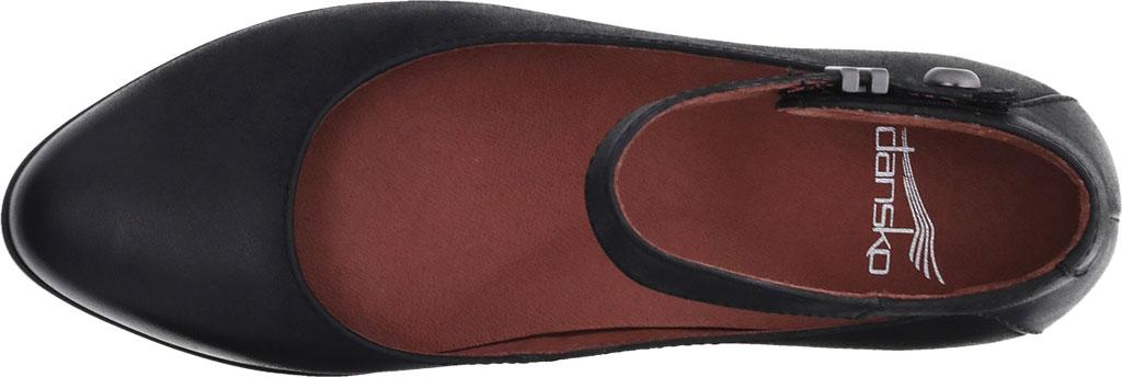 Women's Dansko Shaylee Ankle Strap Wedge, Black Leather, large, image 3