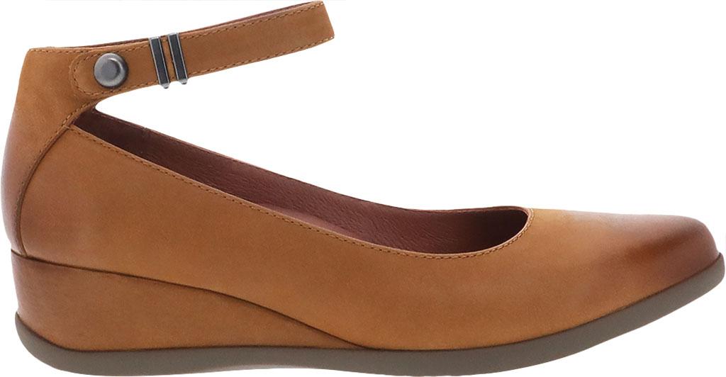 Women's Dansko Shaylee Ankle Strap Wedge, Luggage Leather, large, image 2
