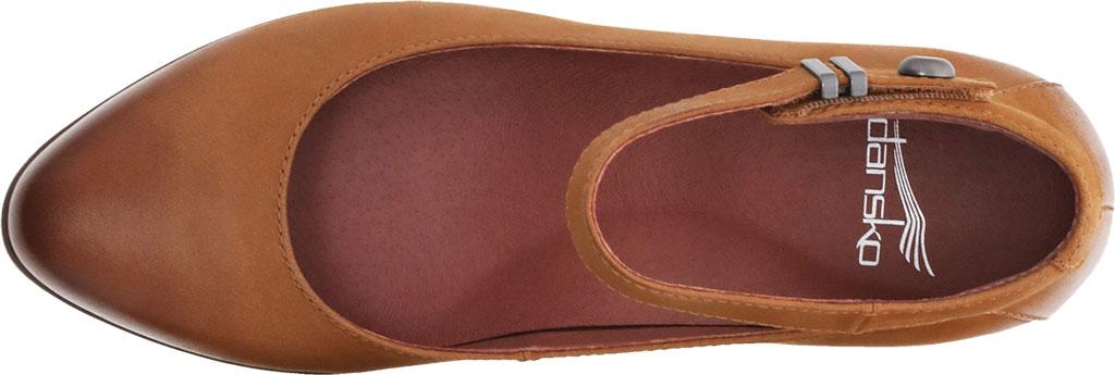 Women's Dansko Shaylee Ankle Strap Wedge, Luggage Leather, large, image 3