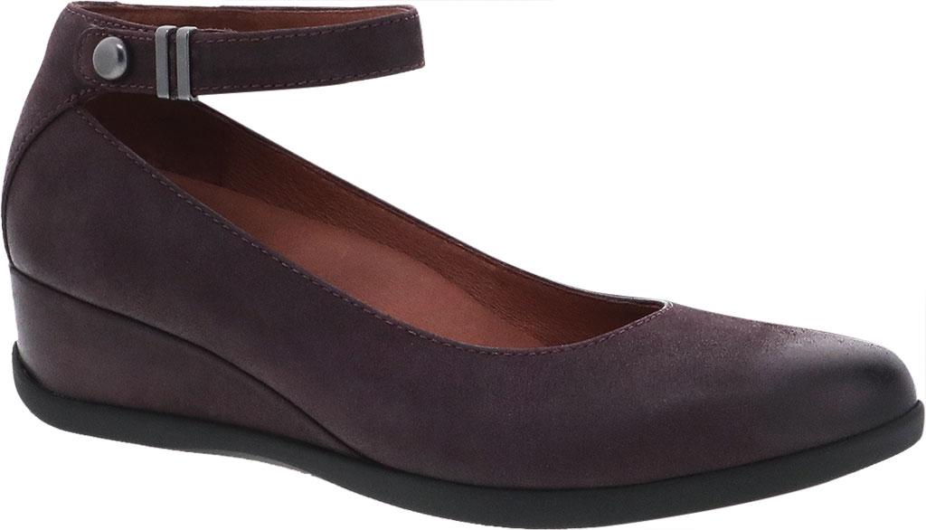Women's Dansko Shaylee Ankle Strap Wedge, Fig Leather, large, image 1