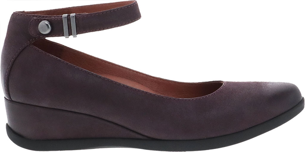 Women's Dansko Shaylee Ankle Strap Wedge, Fig Leather, large, image 2
