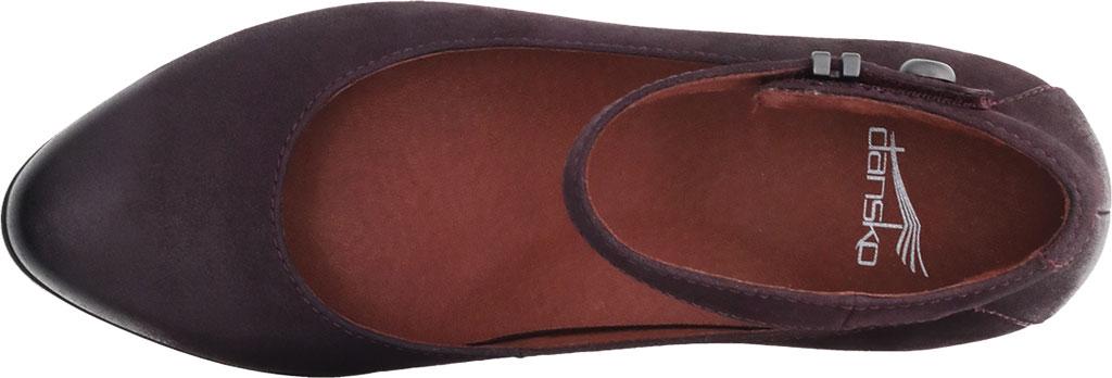 Women's Dansko Shaylee Ankle Strap Wedge, Fig Leather, large, image 3