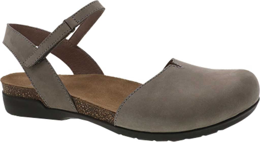 Women's Dansko Rowan Closed Toe Sandal, Taupe Milled Nubuck, large, image 1