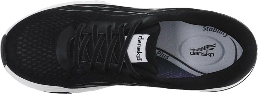 Women's Dansko Pace Sneaker, Black Mesh, large, image 2