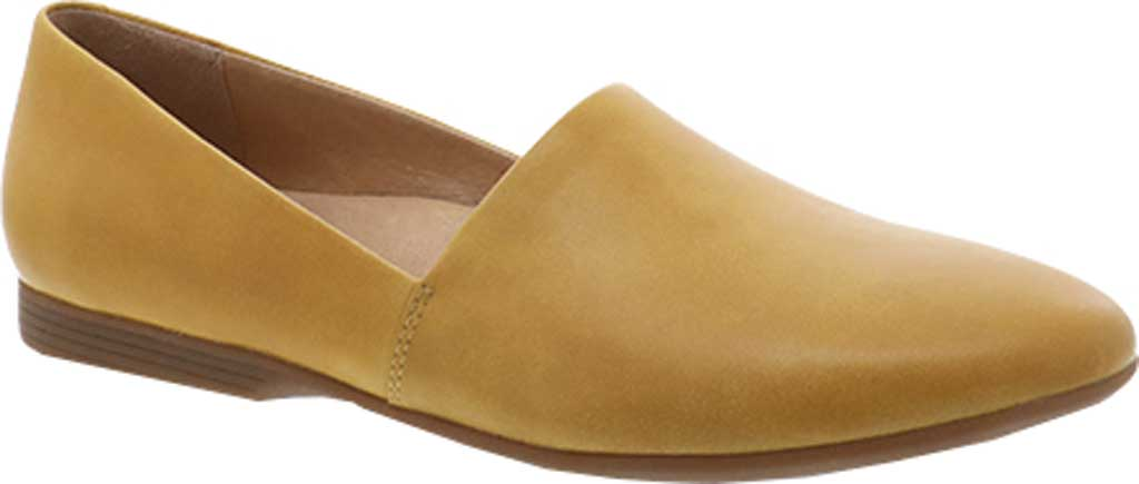 Women's Dansko Larisa Slip On Flat, Yellow Burnished Nappa Leather, large, image 1