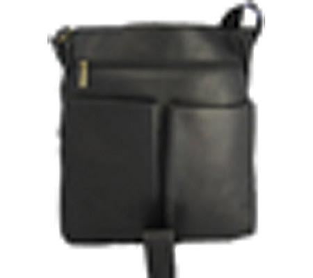 David King Leather 187 Vertical Laptop Messenger Bag, Tan, large, image 2