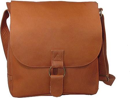 David King Leather 187 Vertical Laptop Messenger Bag, Tan, large, image 1