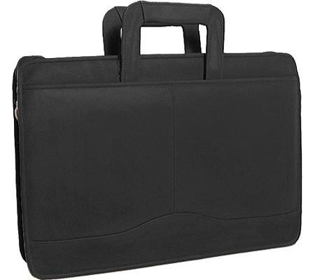 David King Leather 154 Single Gusset Portfolio, Black, large, image 1