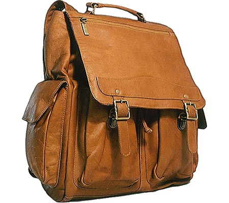 David King Leather 354 Jumbo Back Pack, Tan, large, image 1