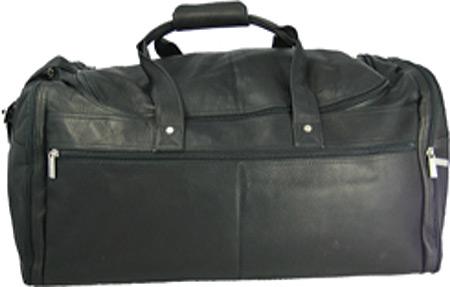 David King Leather 305 Extra Large Multi Pocket Duffel, Black, large, image 1