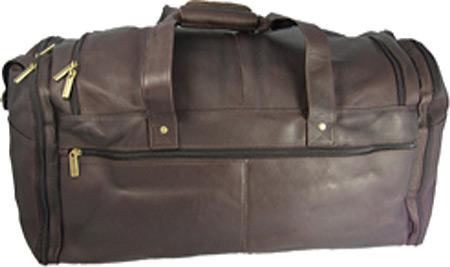 David King Leather 305 Extra Large Multi Pocket Duffel, Cafe, large, image 1