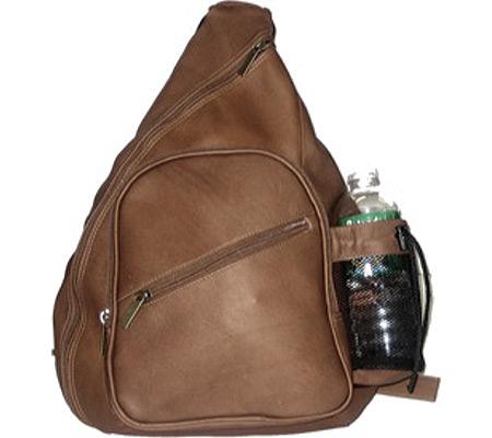 David King Leather 318 Backpack Style Cross Body Bag, Cafe, large, image 1