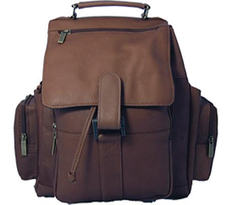 David King Leather 330 Top Handle XL Backpack, Cafe, large, image 1
